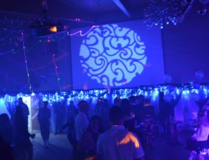 Gobo projection lighting up the dance floor